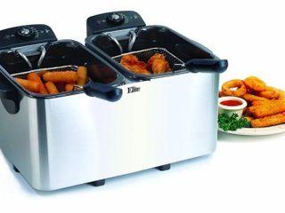 Elite Platinum EDF 3060 6 quart Deep Fryer  Stainless Steel  Retail 77 48