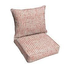 Geometric Coral Deep Seating Corded Chair Pillow and Cushion by Havenside Home