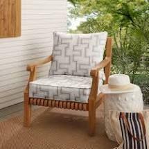 Cushions only Sunbrella Resonate Dune Corded Sofa Cushion and Pillow Set