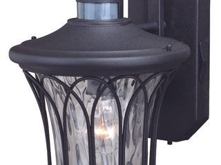 Abigail Black Motion Sensor Dusk to Dawn Outdoor Wall light   9 in W x 14 in H x 11 in D  Retail 272 00
