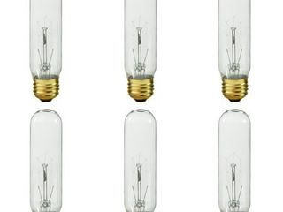 Royal Designs Clear Edison Vintage Style 60 Watt light Bulb with Brass Colored Base  6 Pack