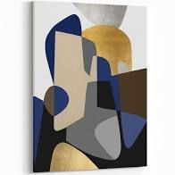 Noir Gallery Abstract Shapes Geometric Painting Metal Wall Art Print  Retail 209 99