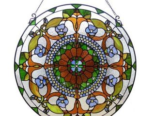 Chloe Tiffany Style Floral Design Window Panel  Retail 133 99