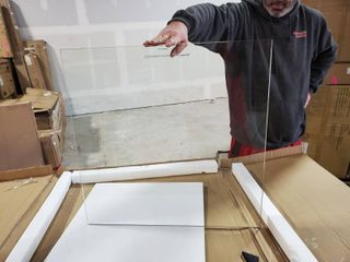 Tempered glass piece