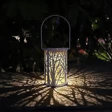 Outdoor Waterproof Solar light lED lantern Retro Hanging lamp Decors for Patio Garden