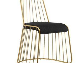 Rivulet Gold Stainless Steel Upholstered Velvet Dining Chair  Retail 257 99