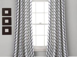 lush Decor Feather Arrow Geo Room Darkening Window Curtain Panel Pair