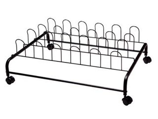 Suprima Stainless Steel Underbed Shoe Holder with Wheels