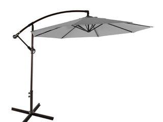 Weller 10 Ft Offset Cantilever Hanging Patio Umbrella   Retail 122 99
