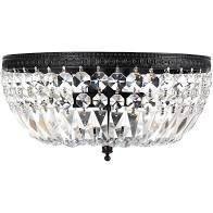 Silver Orchid Taylor 3 light Crystal Basket Flush Mount Chandelier  Retail 97 99