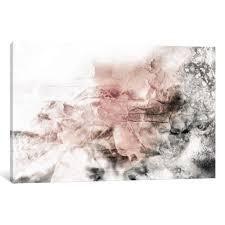 Porch   Den Katrina Jones  Rose Grey Abstract Watercolor  Wall Art