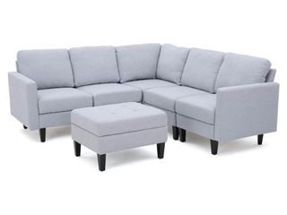 Zahra 4 piece Sofa by Christopher Knight Home  Retail 909 99