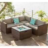 COSIEST 4 Piece Outdoor Sectional Sofa Patio Set