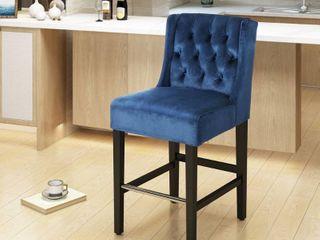 leander Modern Velvet Counter Stool by Christopher Knight