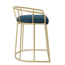 OSP Home Furnishings Mid Century luna 26 inch Fabricated Counter Stool with Gold Base  Retail 169 99