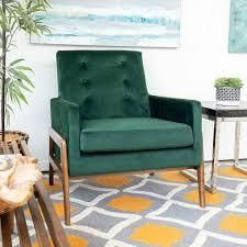 Mid Century Modern West Chase Green lounge Chair   33  Retail 392 99