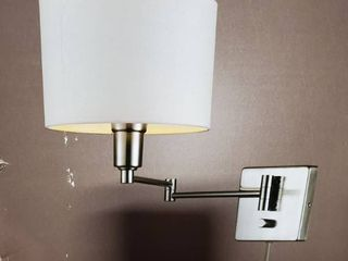 Porch   Den El Caminito Brushed Steel 1 light Wall Sconce  Plug In or Hardwire