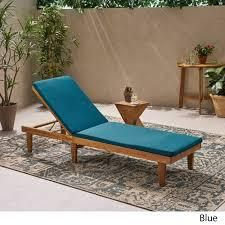 Nadine Outdoor Fabric Chaise lounge Cushion by Christopher Knight Home  Retail 91 49