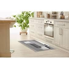 OVERlAY BlACK AND WHITE Kitchen Mat By Kavka Designs