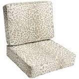 Sunbrella Tan leopard Indoor Outdoor Deep Seating Cushion Set  Corded  Retail 114 49