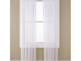 No  918 Emily Sheer Voile Single Curtain Panels