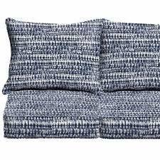 Porter Graphic Indigo and Navy cushion