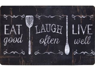 Designer Chef Series Eat laugh live 24 inch x 36 inch Oversized Antifatigue Kitchen Mats   multi