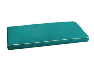 Sunbrella Textured Sea Blue with Ivory Indoor  Outdoor Bench Cushion by Humble   Haute  Retail 78 48