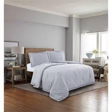 chambray microfiber comforter soft grey