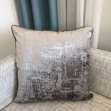 Rodeo Home Halston Cut Velvet Distressed Square Throw Pillow