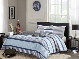 Home Essence Apartment Blain Striped Coverlet Bedding Set