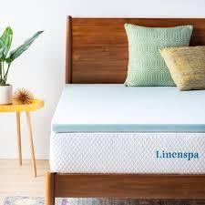linenspa Essentials 2 inch Gel Memory Foam Mattress Topper   Blue