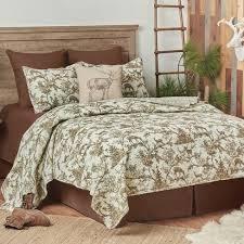 Hemlock Trail Rustic lodge Twin Quilt Set  Retail 129 99