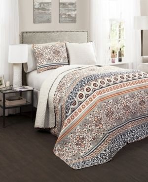 Premium Nesco Reversible 3 Piece King Quilt   Sham Bedding Set by lush Decor