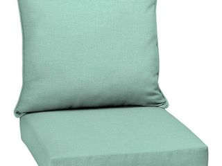 Arden Selections Aqua leala Texture Outdoor Deep Seat Set   46 5 in l x 25 in W x 6 5 in H