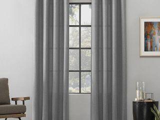 Scott living Dari Heathered Texture Semi Sheer Grommet Curtain Panels