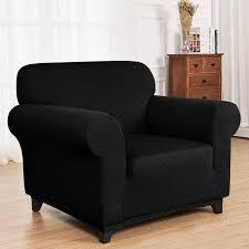 Enova Home Ultra Soft Rhombus Jacquard Polyester Spandex Fabric Box Cushion Armchair Slipcover