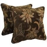 18 inch Corded Patterned Jacquard Chenille lumbar Throw Pillows  Set of 2