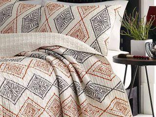 Beige Cusco Rhombus Comforter Set  Full Queen    Azalea Skye
