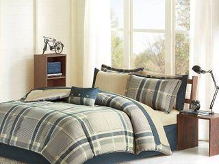 Intelligent Design Roger Navy Multi Comforter and Sheet Set