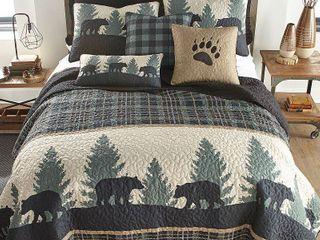 Donna Sharp Bear Walk Plaid Quilt  Retail 120 00