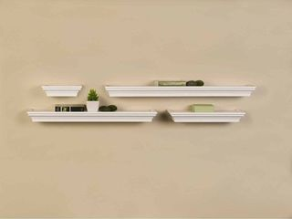 Melannco Set of 4 Wall Shelves in Assorted Sizes