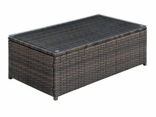 Furniture of America Fene Contemporary Brown Outdoor Coffee Table