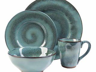 16pc Stoneware Toren Dinnerware Set Blue   Sango
