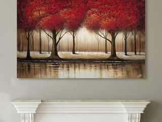 Copper Grove Cibola Parade of Red Trees Canvas Art