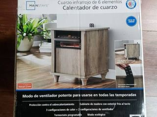 Mainstays 6 Element Infrared Quartz Heater  Wood Finish