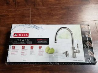 Delta Trask Kitchen Faucet Spotshield Stainless Pull Down Head Temp Sense