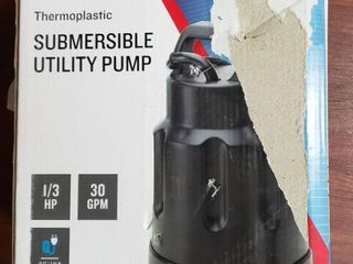 Utilitech Thermoplastic 1 3 Hp Submersible Water Utility Pump