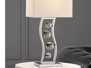 Wave 27in Crystal Balls Metal Table lamp