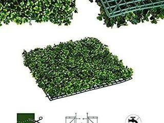 Outsunny 20in x 20in 12 Piece Artificial Boxwood Hedge Mat Panels